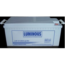 Luminous 200 AH 12V C10 PURE GEL BATTERY