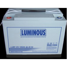 Luminous 100 AH 12V C10 PURE GEL BATTERY